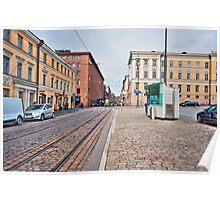 Helsinki Street Scene Poster