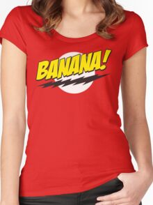 Banana! Lightning Logo T Shirt Women's Fitted Scoop T-Shirt