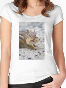Funny Chipmunk Women's Fitted Scoop T-Shirt