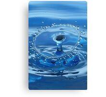 Blue Water Splash Canvas Print
