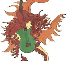Riff the Music Dragon by redqueenself