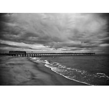Storm coming, Avalon Pier Photographic Print