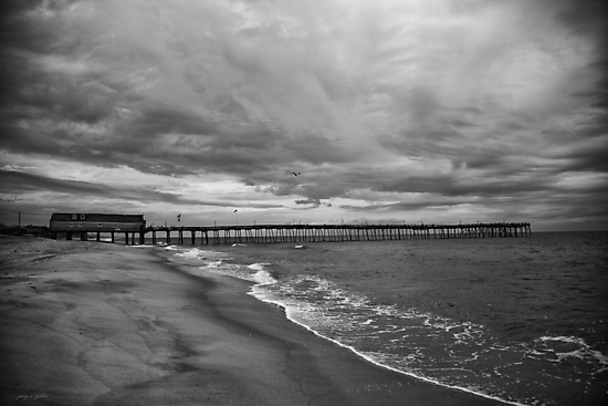 Storm coming, Avalon Pier by Jacque Gates