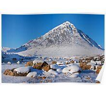 Buachaille Etive Mòr, Lochaber, Scotland Poster