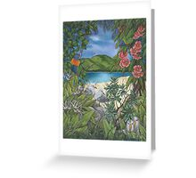 """Tropical Tranquility"" Greeting Card"