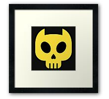 Kitty Skull Framed Print