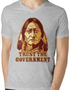 Trust The Government Sitting Bull Edition Mens V-Neck T-Shirt