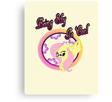 Cool Shy Fluttershy 2 Canvas Print