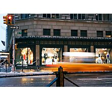 Saks 5th Avenue with Taxi...itsablurr Photographic Print