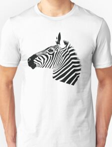 Zebra Head Unisex T-Shirt