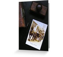 Past and present vintage post card Greeting Card