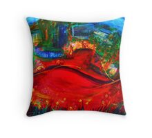 Kangaroos in Town Throw Pillow