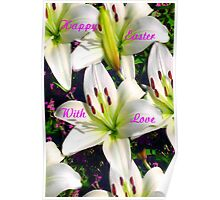 Easter Lilies,  Card Poster