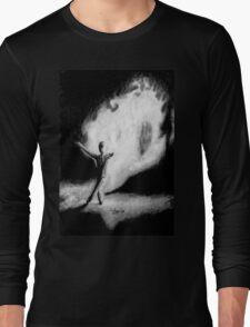 Fire Walking SlenderMan Long Sleeve T-Shirt