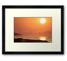 Rusty Sunrise on Lake Malawi Framed Print