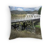 The Wooden Bridge Throw Pillow