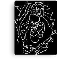 Rayman White Canvas Print