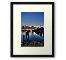 Blue Manhattan Framed Print