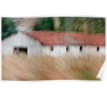 Barn in Rural Turkey Poster