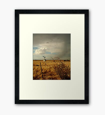 Passing Rain, Geelong District Framed Print