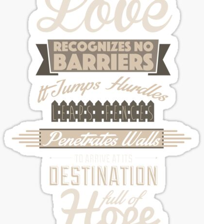 Love Recognizes No Barriers Sticker