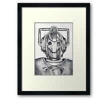 Cyberman Pencil Drawing Framed Print