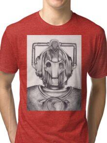 Cyberman Pencil Drawing Tri-blend T-Shirt