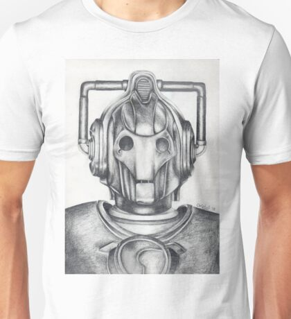 Cyberman Pencil Drawing Unisex T-Shirt