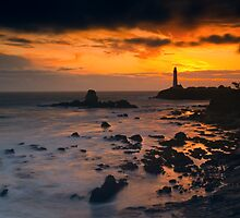 Sunset at Pigeon Point Lighthouse by Zane Paxton