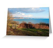 Coastal Path Overlook ~ Lyme Regis Greeting Card