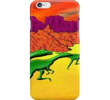 Theropods on the Run iPhone Case/Skin