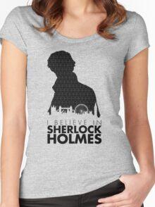 I Believe in Sherlock Holmes Women's Fitted Scoop T-Shirt