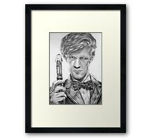 Matt Smith Portrait - 11th Doctor Framed Print