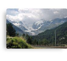 Morteratsch Glacier, Switzerland Canvas Print
