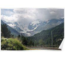 Morteratsch Glacier, Switzerland Poster