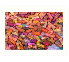Pastel Chalks- earth tones Art Print