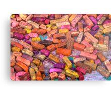Pastel Chalks- earth tones Metal Print