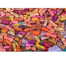 Pastel Chalks- earth tones Photographic Print