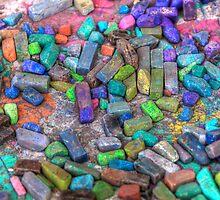 Pastel Chalks- sea tones by Bill Wetmore