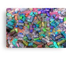 Pastel Chalks- sea tones Canvas Print