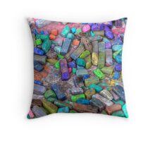 Pastel Chalks- sea tones Throw Pillow