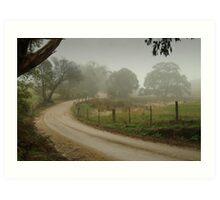 Prendegast Lane,Cobaw,Macedon Ranges Art Print