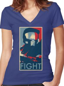 FIGHT - Halo Campaign Women's Fitted V-Neck T-Shirt