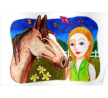 Country Living with Horse Poster