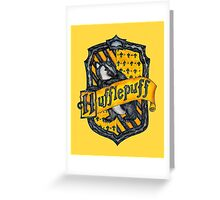 Hufflepuff House Crest Greeting Card