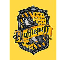 Hufflepuff House Crest Photographic Print