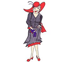 Red Hat Lady Photographic Print