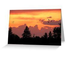 Sunset Wallpaper Greeting Card