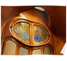 Casa Batllo, Glass screen, Gaudi Poster