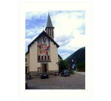 A little Parish Church for a little Village Art Print